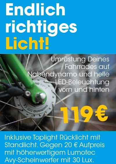 Fahrradladen, Fahrradwerkstatt Potsdam Hauptbahnhof Lichtumbau