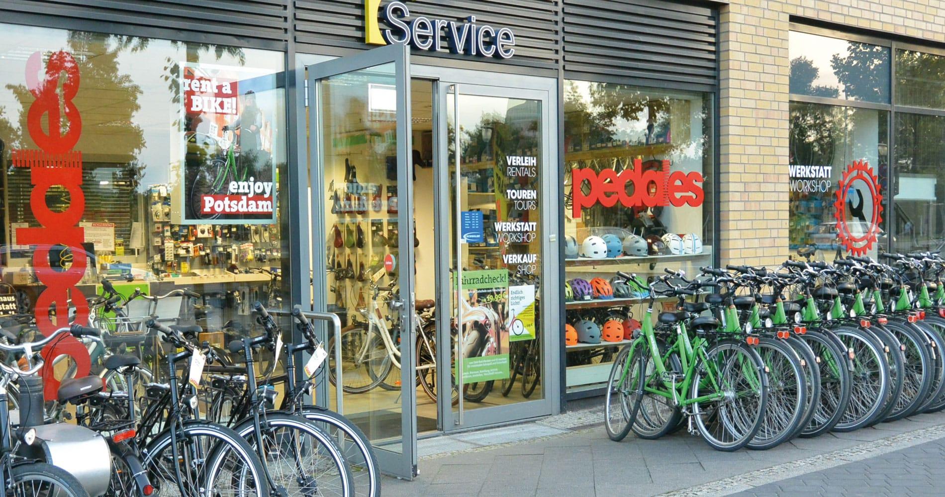 Fahrradverleih, Fahrrad-Werkstatt, Reparatur, Potsdam Hauptbahnhof