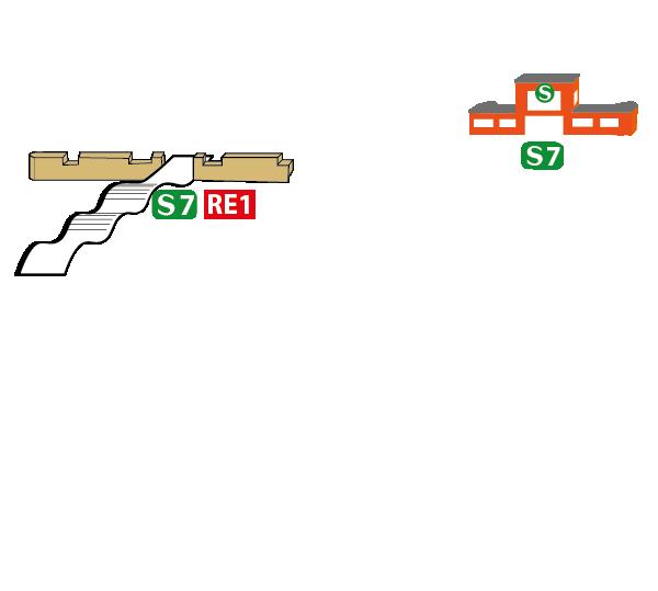 Lageskizze Fahrradladen, Verleih, Verkauf, Radstation, Kajakverleih, SUP-Verleih, Potsdam Bahnhof Griebnitzsee, Hauptbahnhof