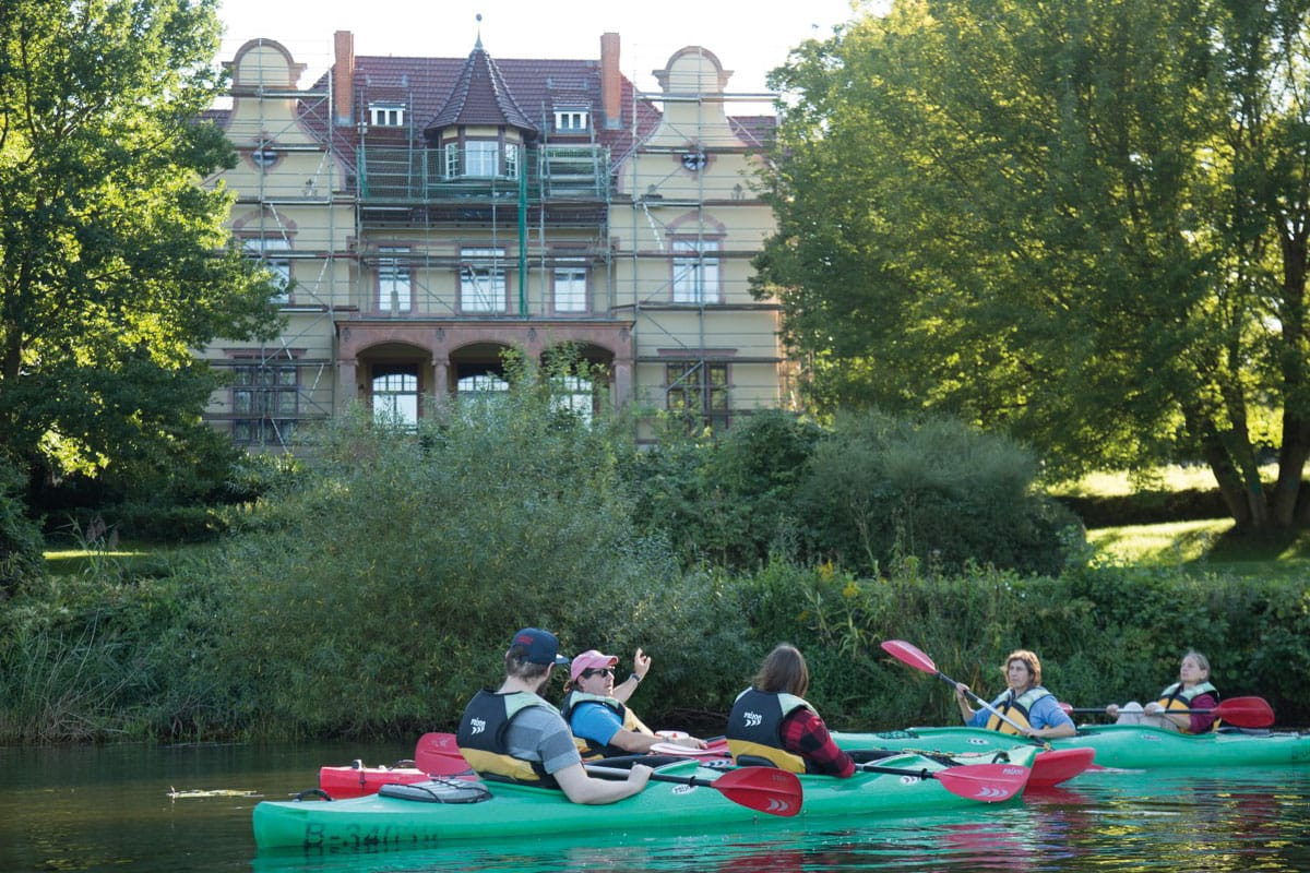 Kajaktour Griebnitzsee, Potsdam, Paddeln, Kajakverleih, Truman Villa