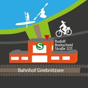 Kajakverleih, Fahrradverleih, Radtouren Griebnitzsee Potsdam