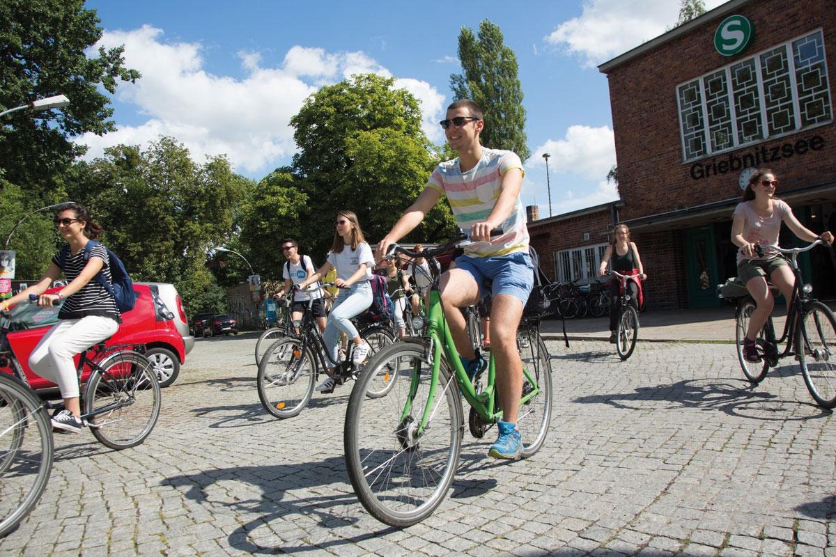 Stadtrallye Potsdam, Radtour, Stadtführung, Fahrrad, Griebnitzsee, Potsdam