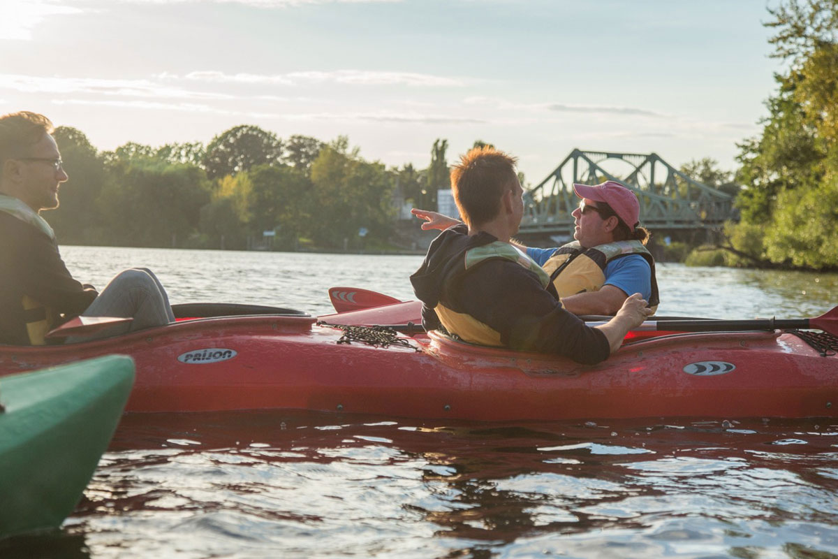 guided kayak tour potsdam